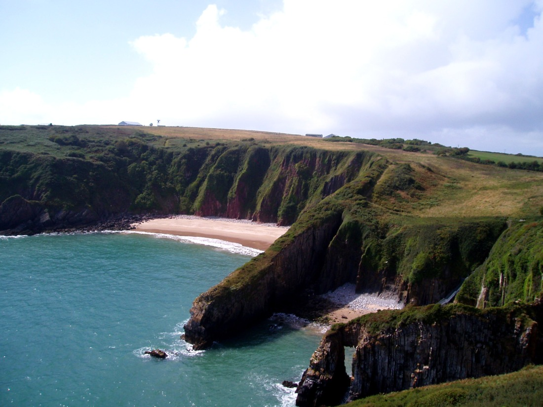 Skrinkle Haven [left] and Church Doors [right] - two amazing beaches near Manorbier on the southern part of the peninsula